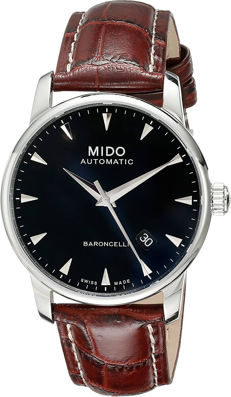 Mido Men s MIDO-M86004188 Baroncelli Analog Display Swiss Automatic Brown Watch