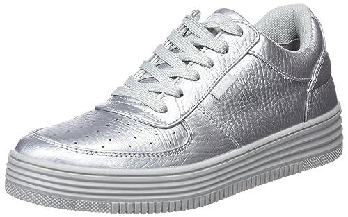 bass3d 41413, Zapatillas para Mujer, Plateado (Silver), 38 EU: Amazon.es: Zapatos y complementos