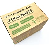 Unni ASTM6400 Certified Compostable Bags, 13 Gallon, 50 Count, Heavy Duty 0.85 Milliliters, Tall Kitchen Trash Bags, Biodegradable Food Waste Bags, US BPI and European VINCETTE Certificated