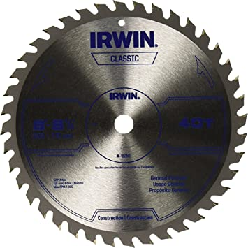 Miter Circular Saw Blade 8 1//4-inch, IRWIN Tools Classic Series Carbide Table