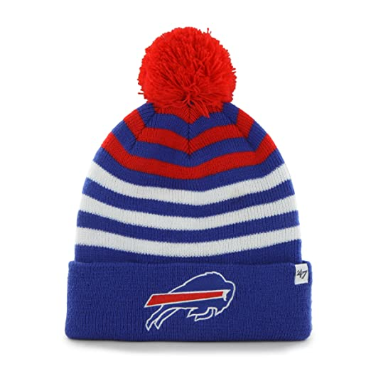 0237786e4628 NFL Buffalo Bills Kid's '47 Brand Yipes Cuff Knit Hat with Pom, Sonic Blue