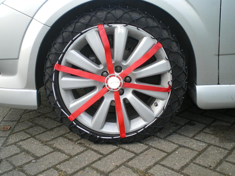 2 pezzi ABS e ESP compatibile Michelin 92301 Catene da neve in tessuto Easy Grip H12 T/ÜV//GS e /ÖNORM