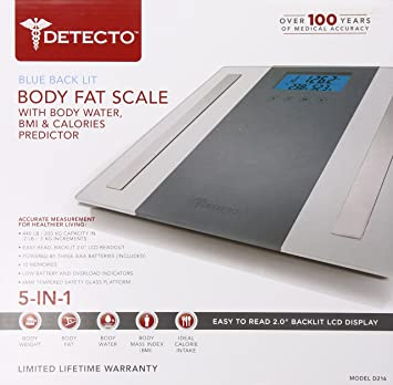 detecto glass body composition 5 in 1 scale white - Detecto Scales