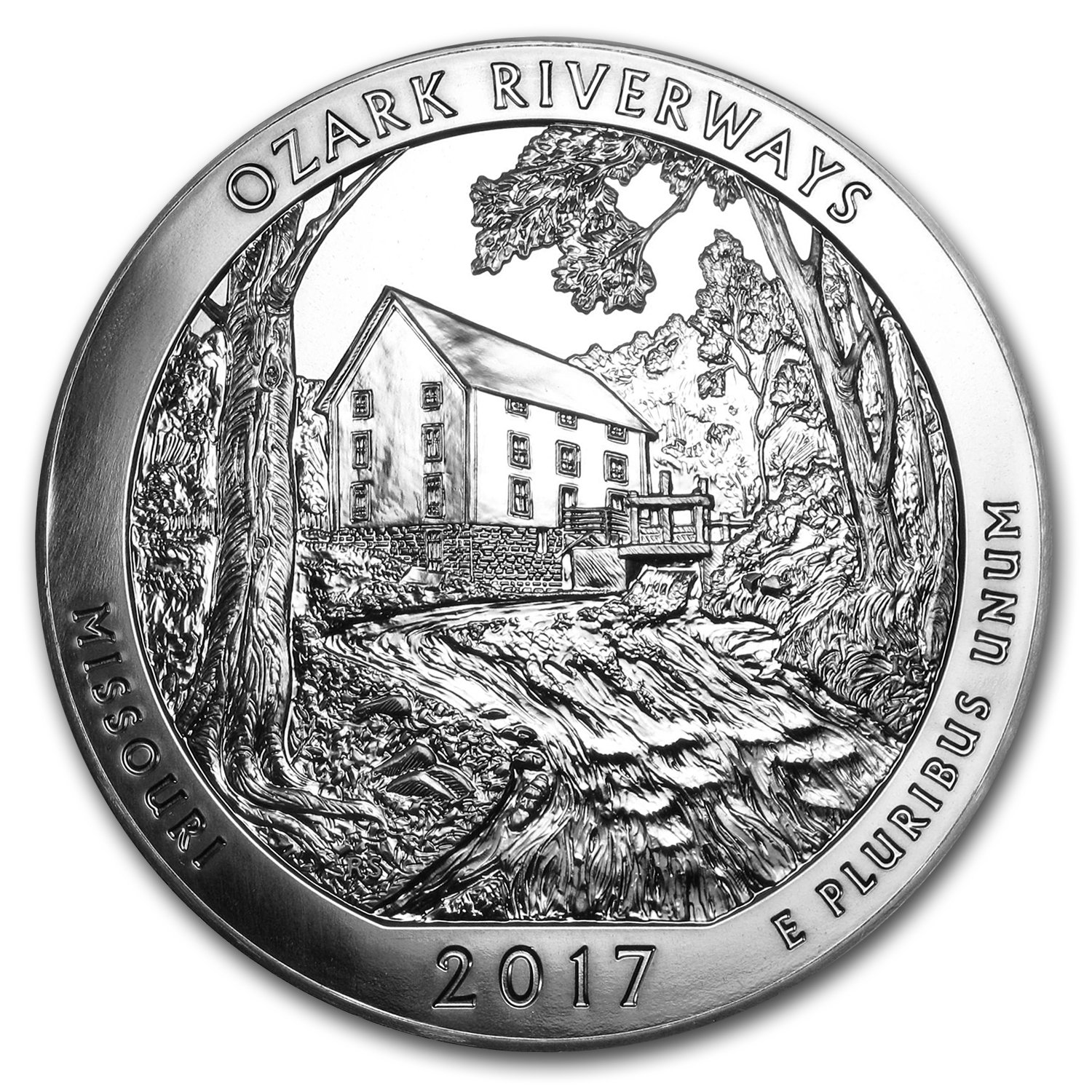 2017 America The Beautiful Ozark Riverways 5 Ounce Silver Coin