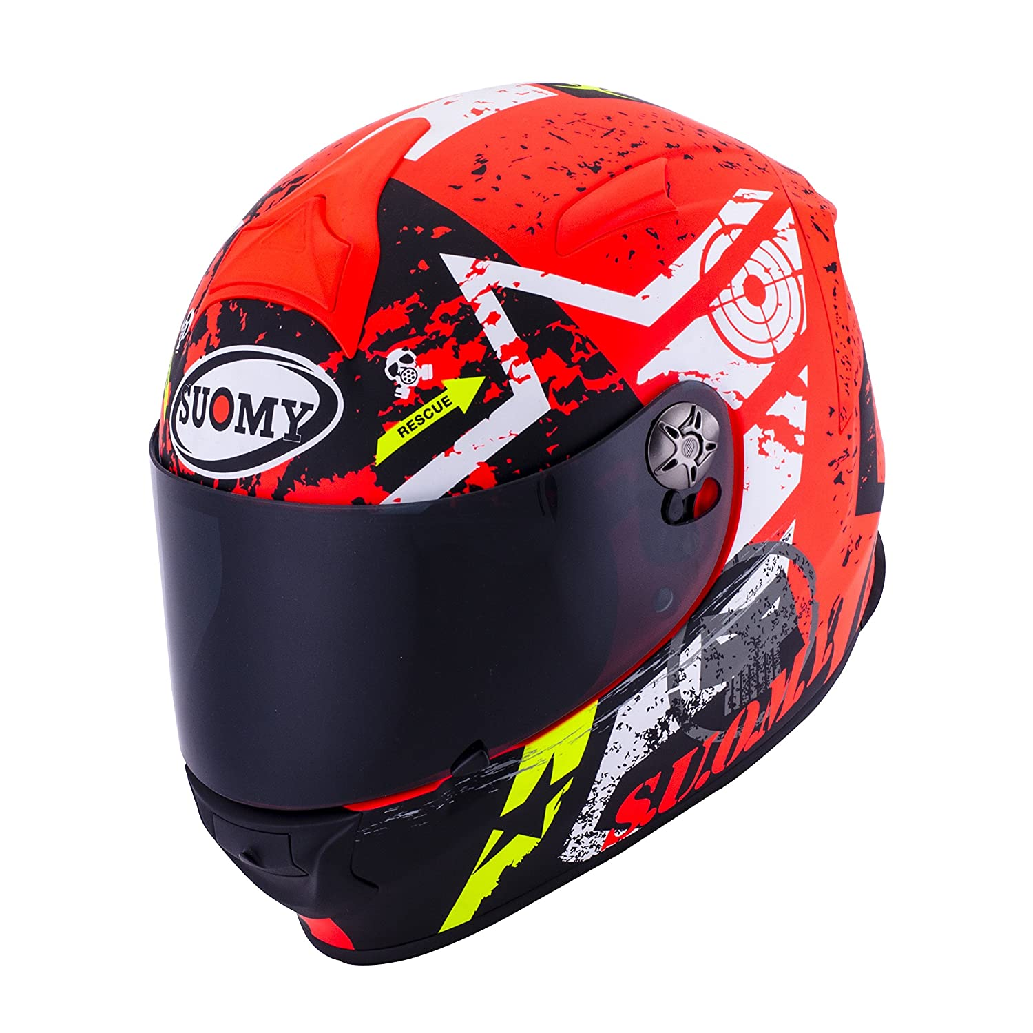 Amazon.es: SUOMY SR Sport - Casco para Moto Integral, Multicolor (Stars Orange), L
