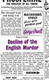 Decline of the English Murder (Penguin Great Ideas)
