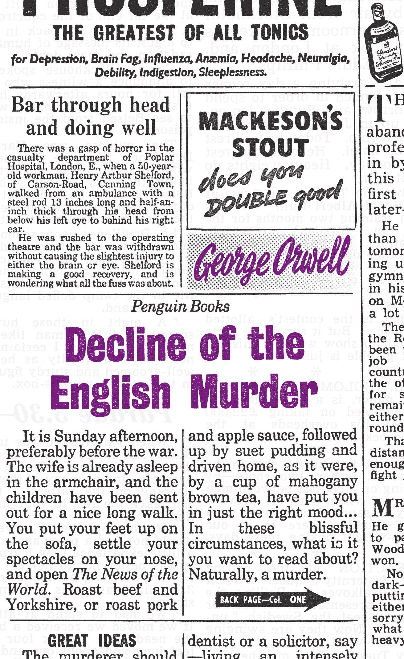 Read Online Great Ideas Decline of the English Murder (Penguin Great Ideas) pdf
