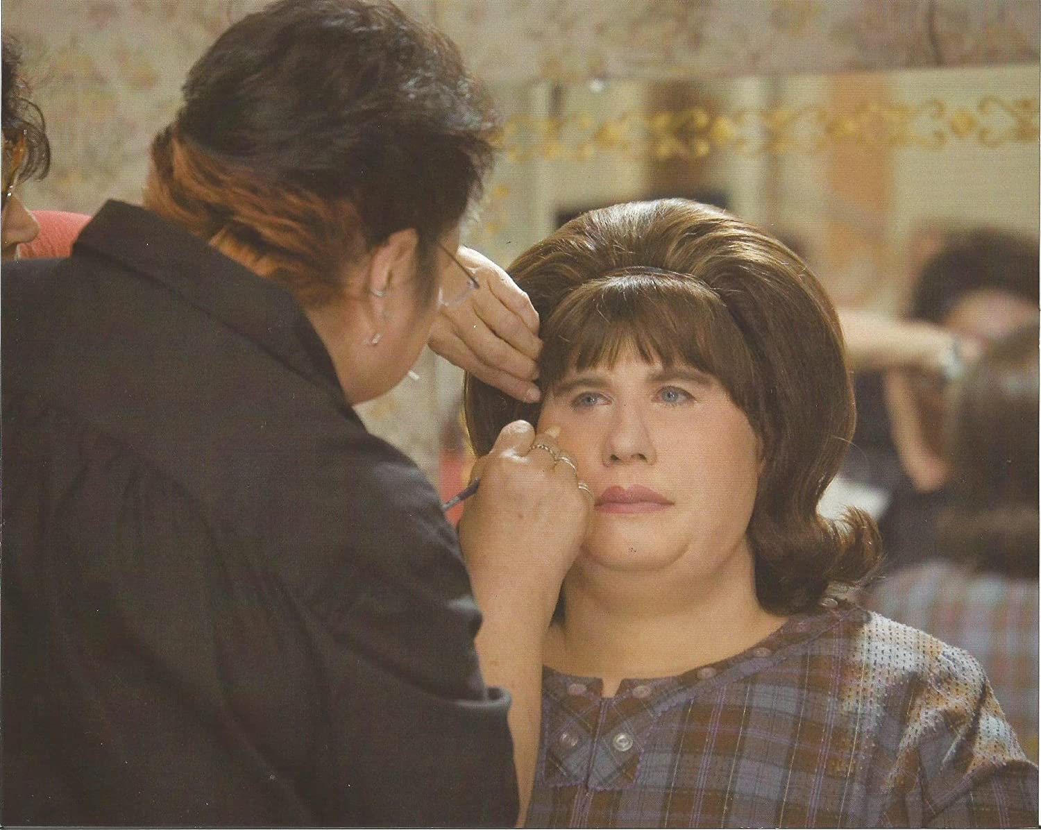 Hairspray John Travolta In Purple Dress With Make Up Artist 8 X 10 Production Photo 004 At Amazon S Entertainment Collectibles Store