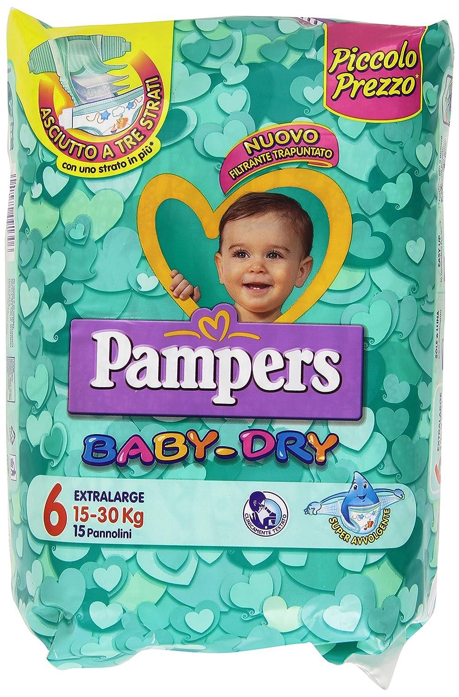 Pampers Baby Dry Windeln extragro/ß 30//–/15/kg 15/St/ück Gr/ö/ße 6/