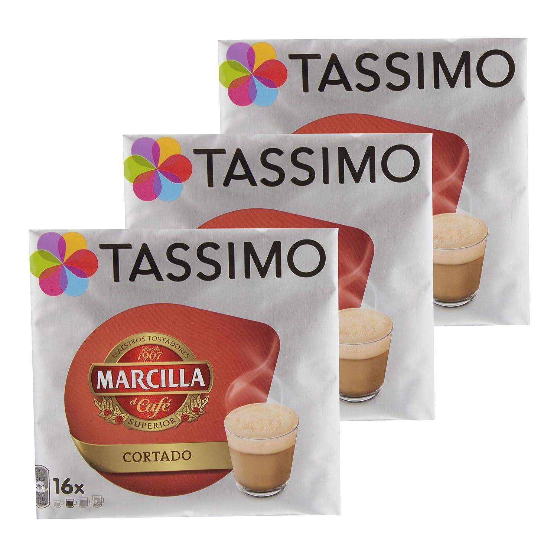 Tassimo Marcilla Cortado, Café, Cápsulas, Granos de café, Café con ...