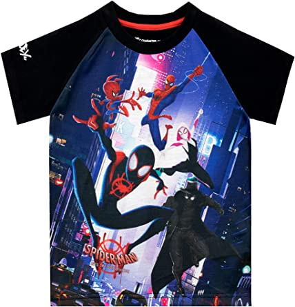 Marvel Camiseta de Manga Corta para niños El Hombre Araña Spider-Man: Un Nuevo Universo Negro 11-12 Años: Amazon.es: Ropa y accesorios