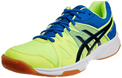 ASICS Men's Gel-Upcourt Flash Yellow, Black and Portapia Synthetic Badminton  Shoes - 13