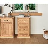 baumhaus mobel oak two drawer filing cabinet