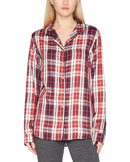 Tommy Hilfiger Varsity Shirt LS, Top de Pijama para Mujer, Azul (Navy Blazer