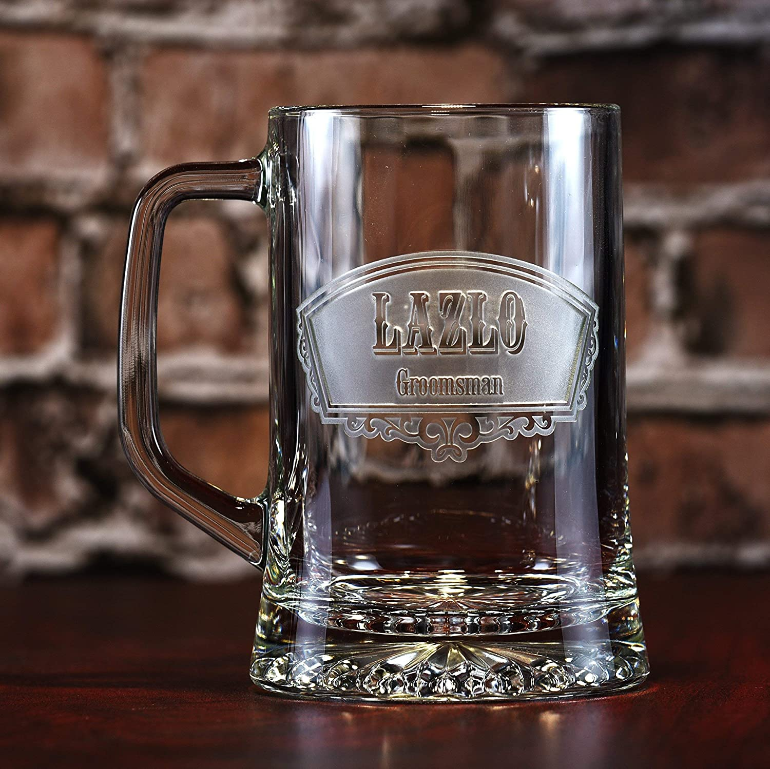 Groomsmen Beer Mugs, Best Man Gifts - Single Glass ONLY