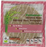 Star Anise Foods - NON GMO Gluten Free Vietnamese Brown Rice Spring Roll Wrapper - 8 oz/8 Servings per box, Pack of 6 boxes