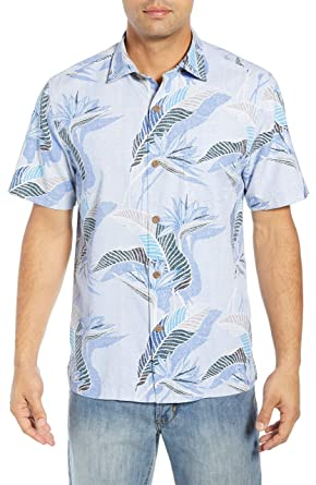 bdfe4931 Image Unavailable. Image not available for. Color: Tommy Bahama South  Pacific Paradise Camp Shirt (Light Sky, Medium)