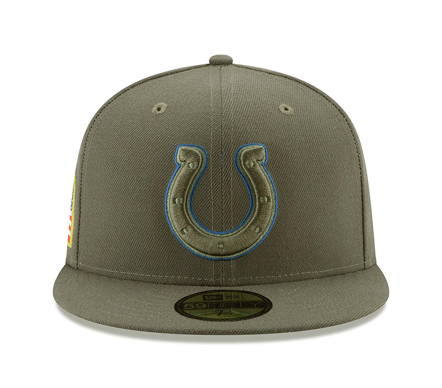 New Era 59Fifty Hat Indianapolis Colts NFL On-Field Salute to Service Fitted  Cap Green at Amazon Men s Clothing store  b6be92e7d5d