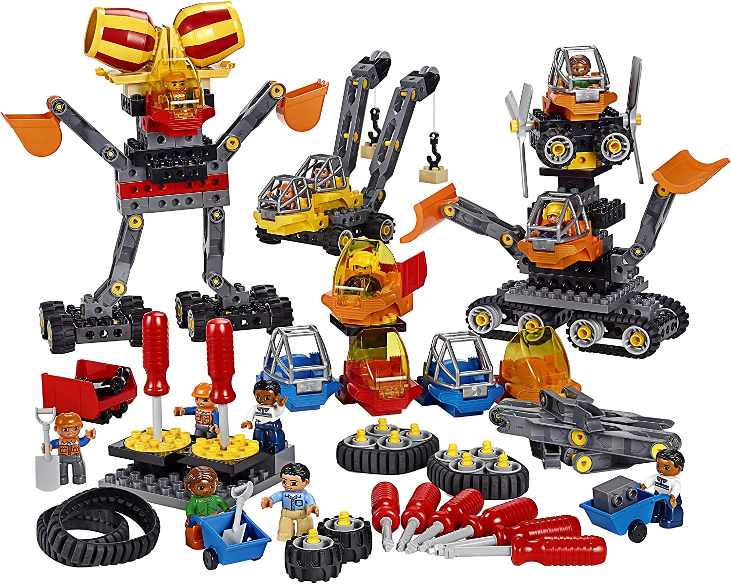 Lego Tech Machines DUPLO Set 45002, Fun Stem Engineering Toy & Steam Learning for Girls & Boys Ages 3 & Up (95Piece)