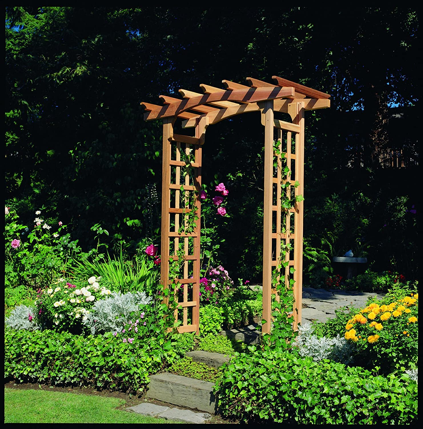Arboria 820 1995 Rosedale Garden Arbor Cedar Wood Over 7ft High Pergola  Design, 84