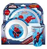 Spider-Man Tumbler, Bowl and Plate Set, Red, Set of 3
