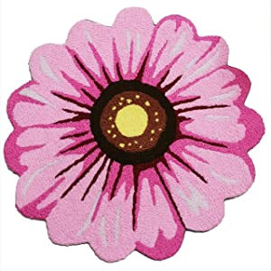 SDX Welcome Mat Cute Doormat Personalized Handmade Creative Sun Flower Door Mat (Pink Sunflower)