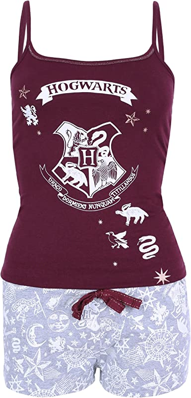 Harry Potter - Hogwarts - Pijama - para Mujer Rojo Rojo: Amazon.es ...