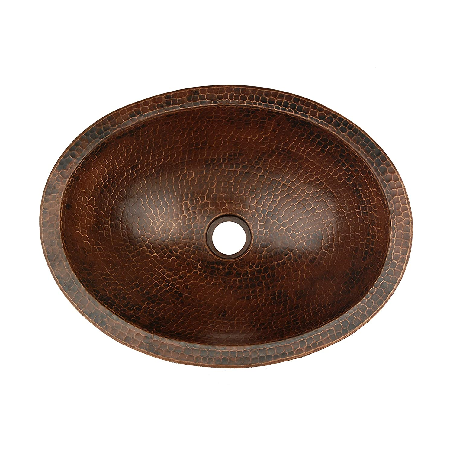 Premier Copper Products Vo17skdb Oval Skirted Vessel Hammered