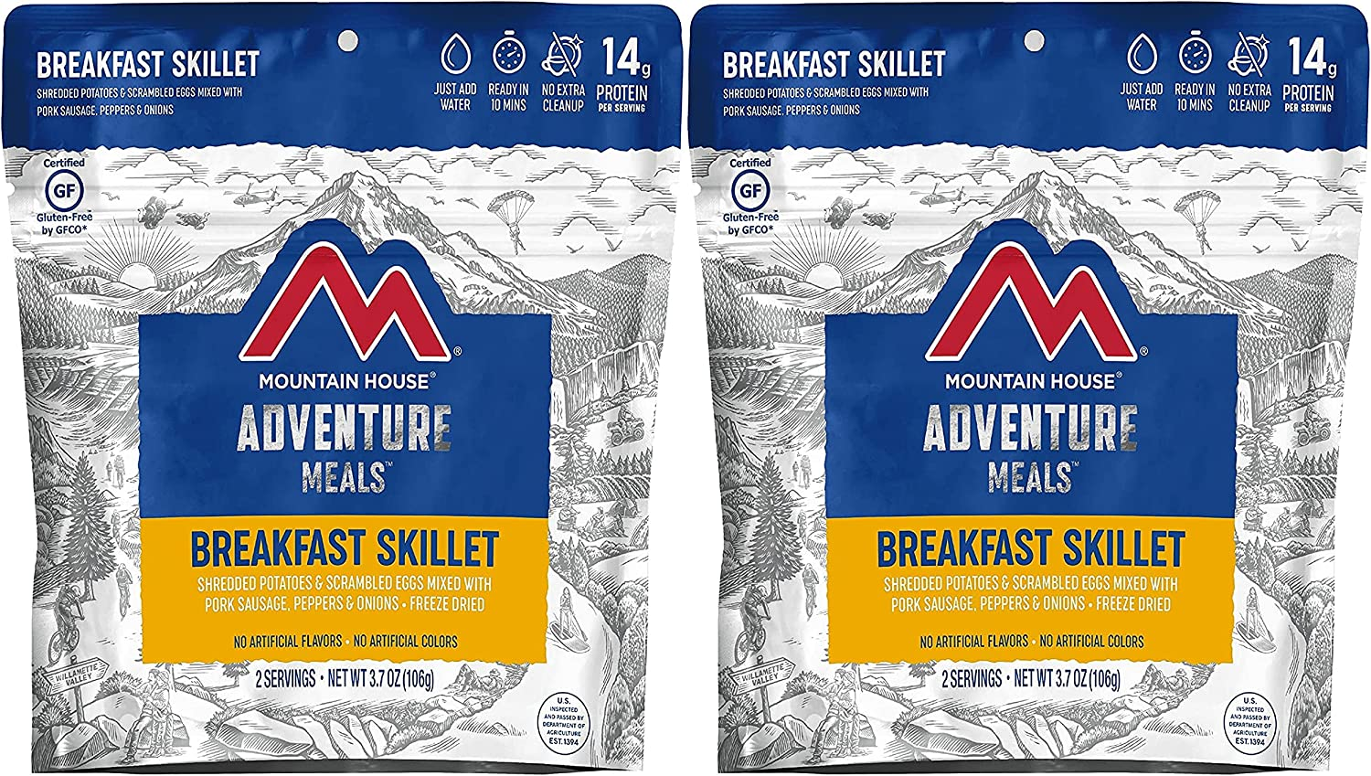 Mountain House Breakfast Skillet | Freeze Dried Backpacking & Camping Food | Survival & Emergency Food