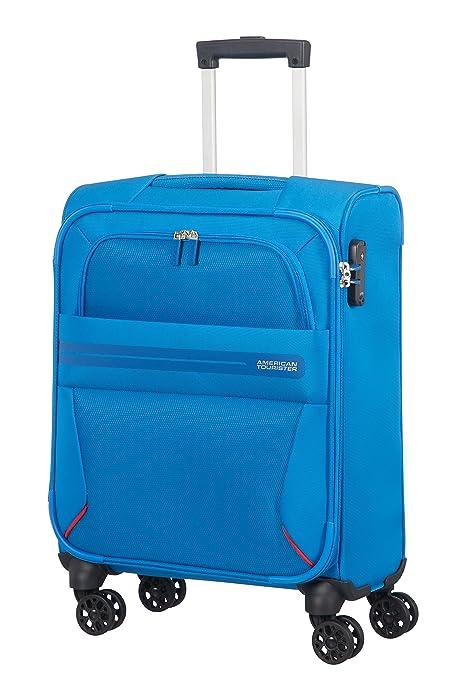 American Tourister Summer Voyager - Spinner 55/20 Equipaje de mano, 55 cm, 36 liters, Azul (Breeze Blue)