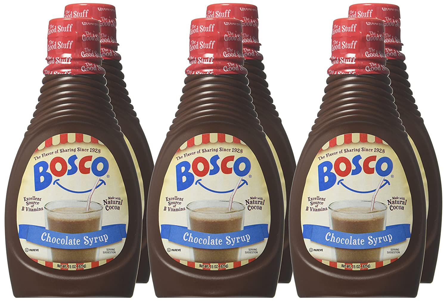 Amazon.com : Bosco Syrup, Chocolate, 15 Ounce (Pack of 6 ...