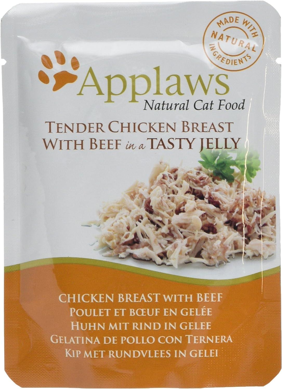 Applaws - Comida humeda para Gatos Gato Jelly Pouch Pollo y Ternera 70 gr