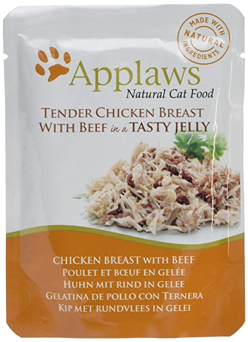 Applaws Comida humeda para Gatos Gato Jelly Pouch Pollo y Ternera 70 gr