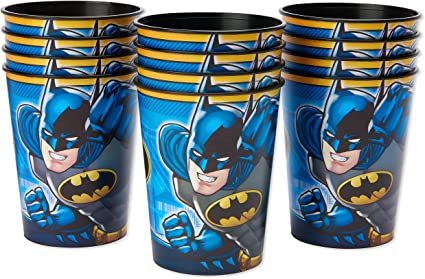 Reusable 16 oz 1-Count American Greetings Lego Batman Party Supplies Plastic Party Cup