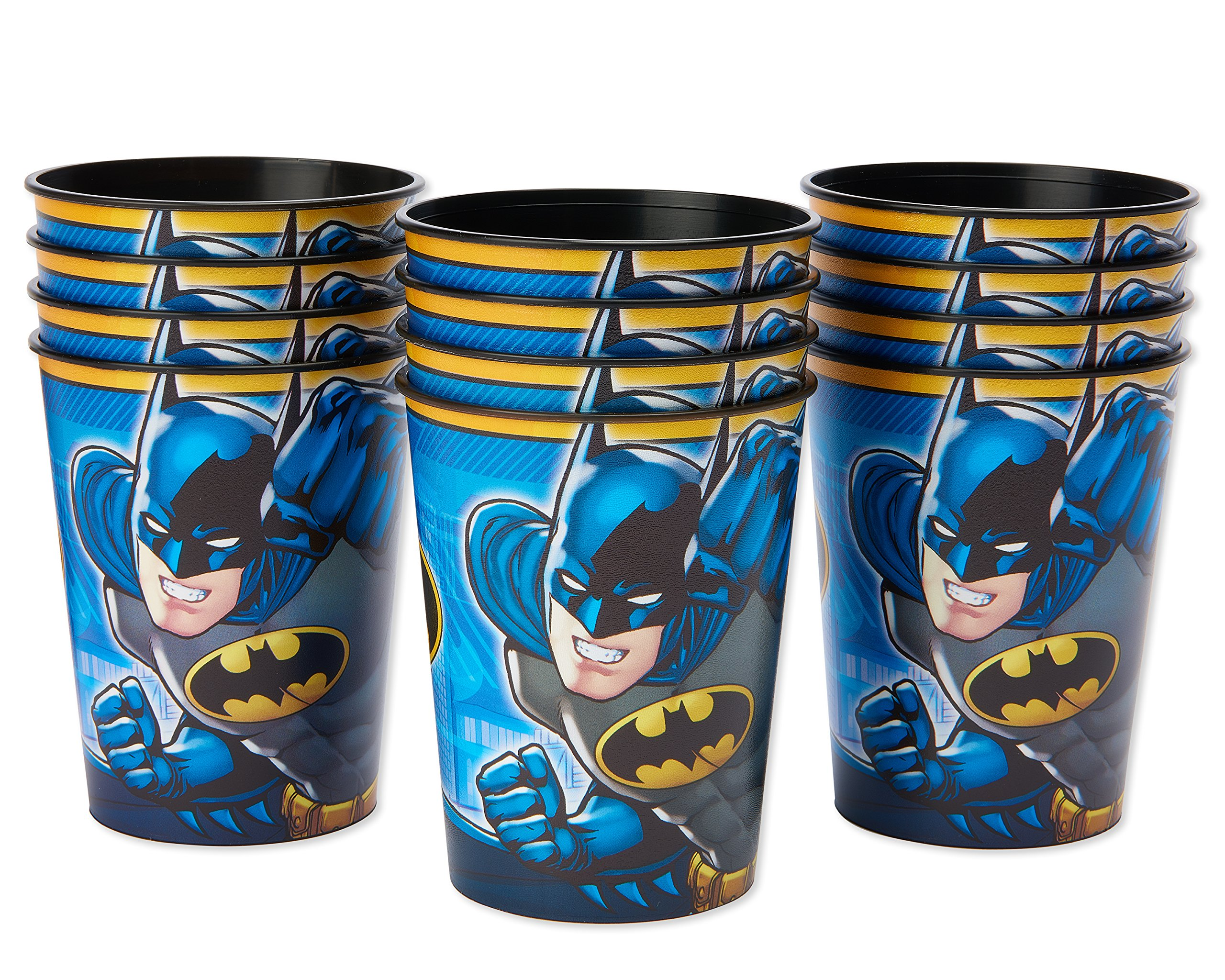 American Greetings Batman Plastic Cups Paper, Stadium Cups, 12-Count