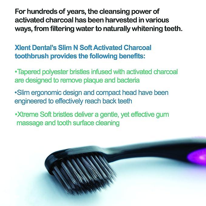 Xlent Dental - Cepillo de dientes de cerdas de carbón ...