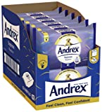 Andrex Washlets Flushable Toilet Tissue Wipes, Supreme Moist, Pack of 12