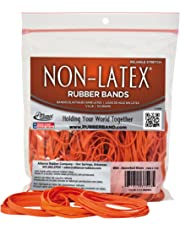 Alliance Non-Latex Rubber Bands - Size #54 (Assorted Sizes) - Protect Users from Latex AllergyReactions - Bright Orange, 1/4 Pound Bag (37548)