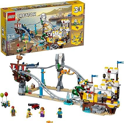 New LEGO CREATOR 31084 Pirate Roller Coaster 3 in 1 Skull Theme Park Cannon Ride