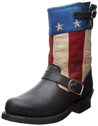 Durango Mens Black Boots Soho 11 Engineer Patriotic