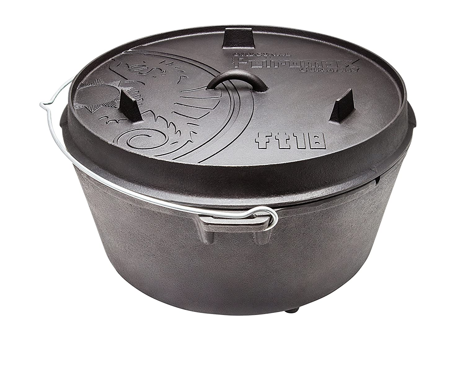 Petromax Cast Iron Dutch Oven with Flat Base - 17 Qt