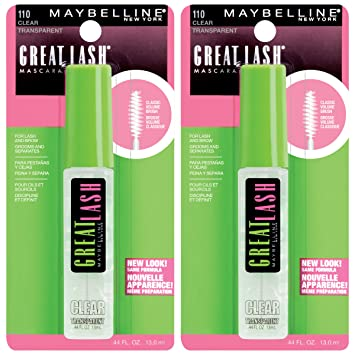079d7a72306 Amazon.com : Maybelline New York Great Lash Clear Mascara Makeup, Clear, 2  Count : Beauty