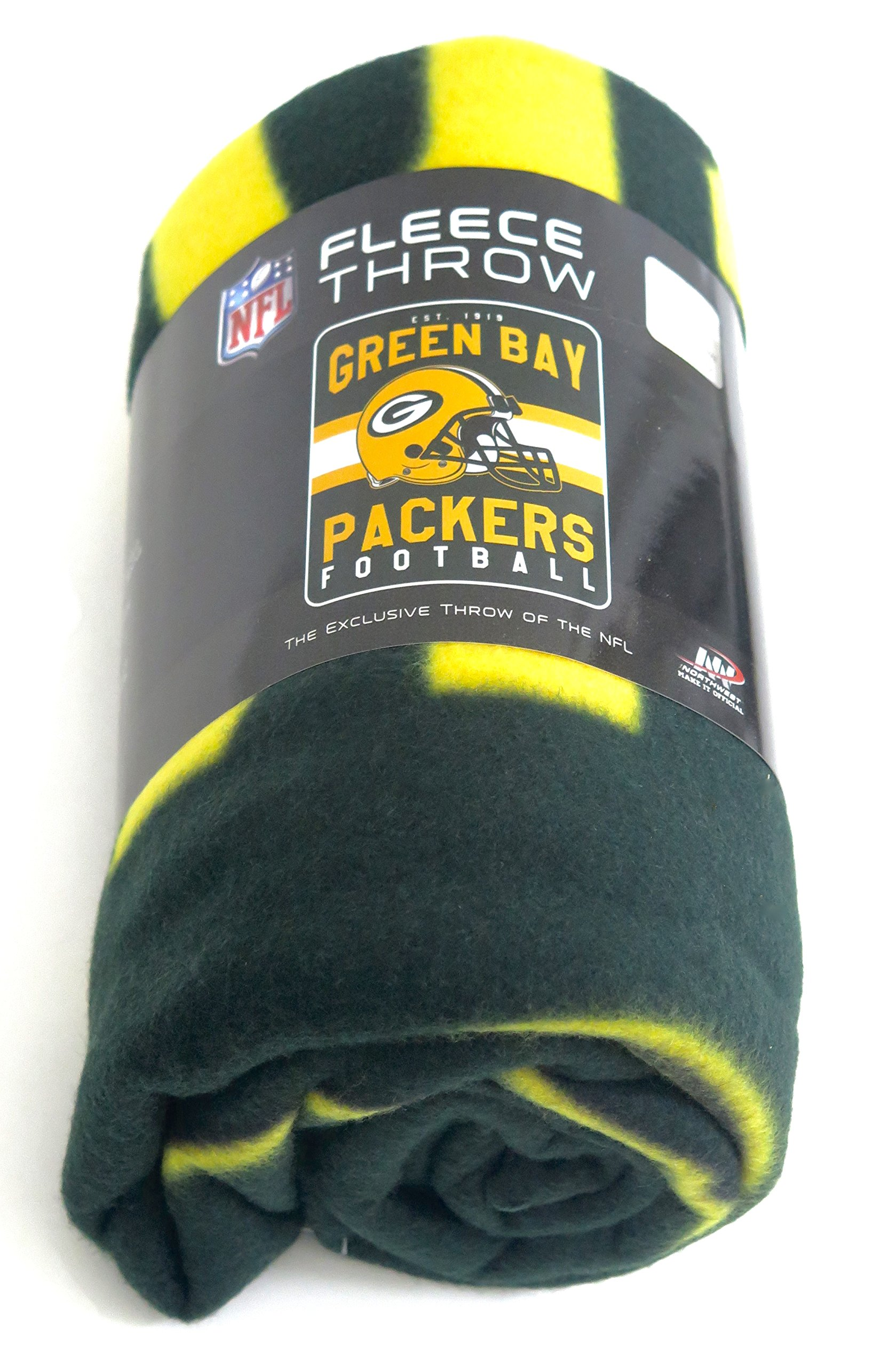 Green Bay Packers Blanket. This soft fleece throw blanket will keep you warm at the game or ar home.