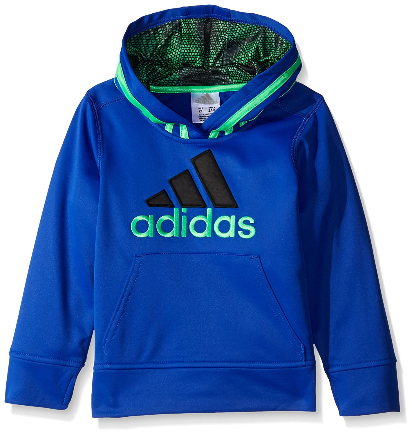 8b9a4f803 Amazon.com: adidas Toddler Boys' Athletic Pullover Hoodie, Bold Blue, 3T:  Clothing