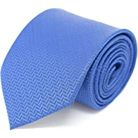 Kanthlangot Self Design Microfibre Blue Tie for Men