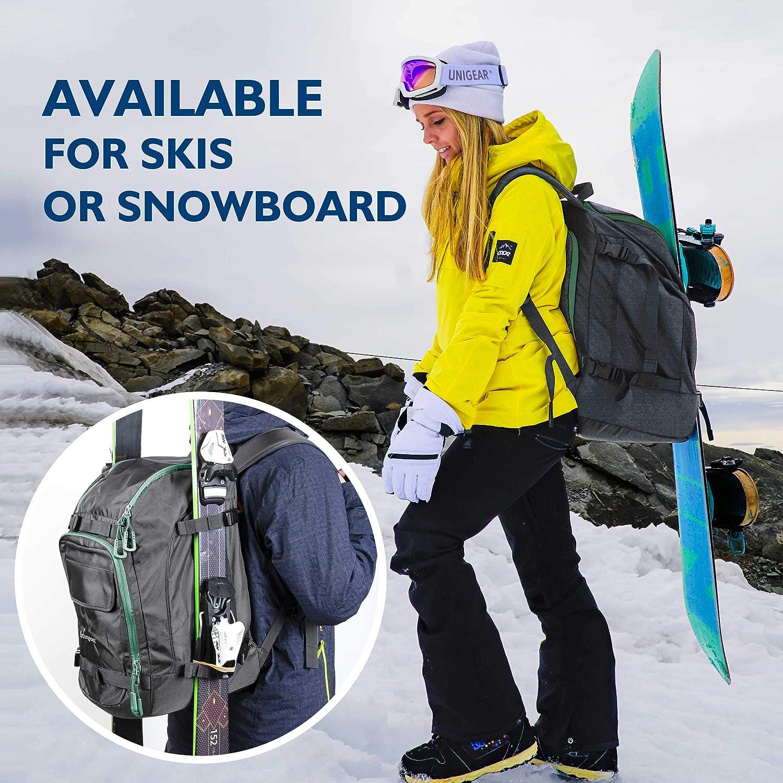 Skitasche Siksack f/ür Skistiefel Unigear Skischuhtasche mit Helmfach und Rucksackgurten Schlittschuhe Skirucksack Skischuhrucksack mit Helmtasche Inline-Skates Snowboard