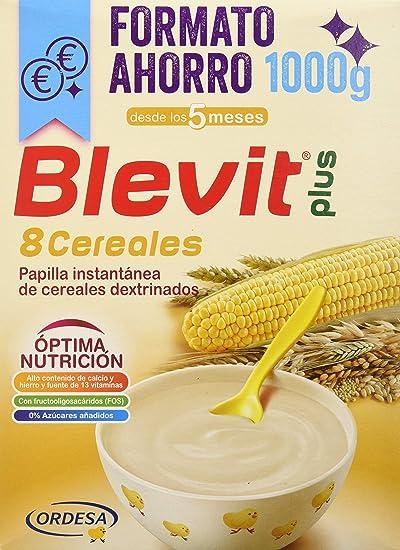 Blevit Plus 8 Cereales - Paquete de 2 x 500 gr - Total: 1000 gr