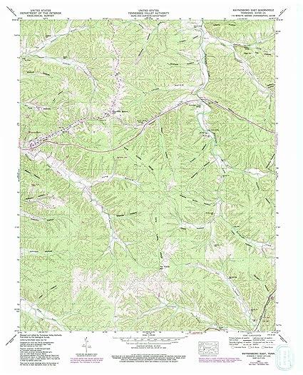 Amazon.com: Tennessee Maps | 1951 Waynesboro East, TN USGS ...