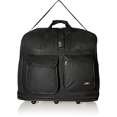 "Hipack Travel Rolling Duffle Bag 30"" Large Black"