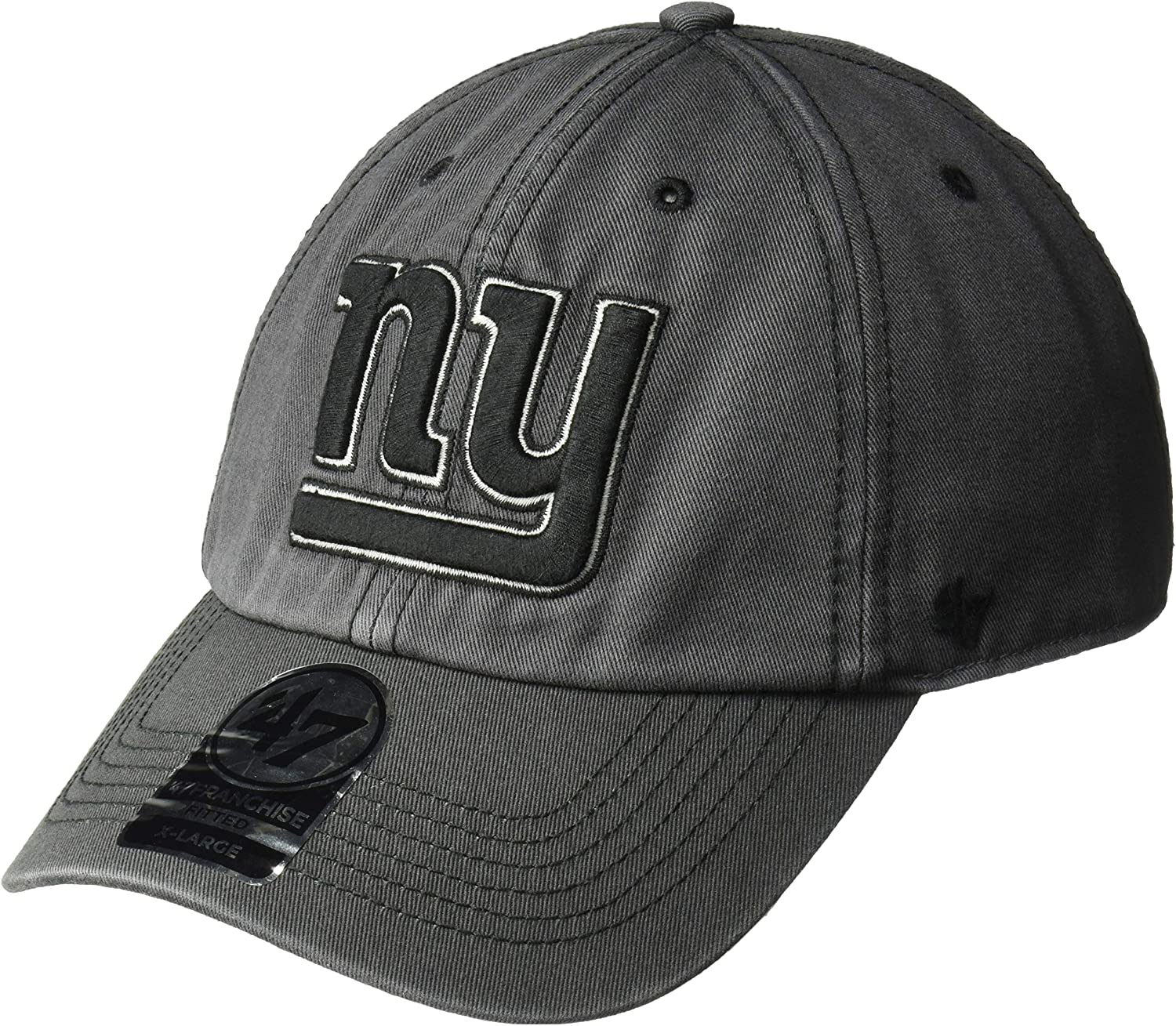 47 Brand NFL NY New York Giants Greyscale Contender Stretch Fit Cap Grey Hat